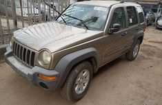 Foreign Used Jeep Liberty 2004 Model Gold