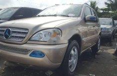 Tokunbo Mercedes-Benz ML 2003 Model Gold