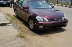 Foreign Used 2001 Maroon Lexus GS for sale in Lagos