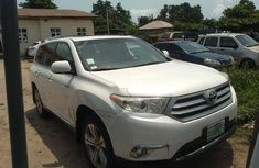 Nigeria Used Toyota Highlander 2013 Model White
