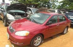 Nigeria Used Toyota Corolla 2006 Model Red