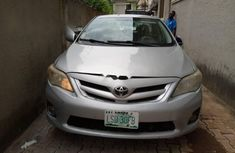 Locally Used 2013 Silver Toyota Corolla for sale in Lagos.