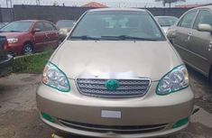 Foreign Used 2006 Gold Toyota Corolla for sale in Lagos.