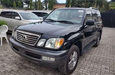 Foreign Used Lexus LX 2007 Model Black