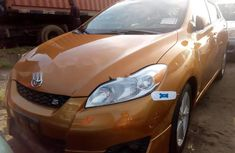Foreign Used Toyota Matrix 2010 Model Gold