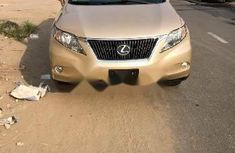 Foreign Used Lexus RX 2010 Model Gold