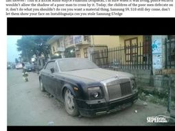 An N193m Rolls Royce Phantom abandoned in Lagos