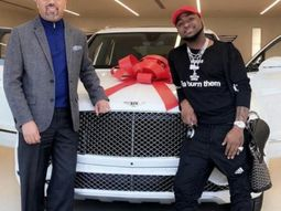 Check out first images of Davido's newly-bought Bentley Bentyga 2018