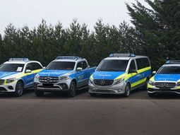 Mercedes showcases X-Class truck pimped out as new police vehicle