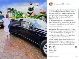 E-Money shows off his Limousine, telling music fans to send their account details