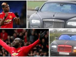 Lukaku and Pogba drive matching N140m Rolls-Royce to Manchester United training