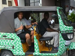 Super Eagles defender William Troost-Ekong spotted in Keke Napep