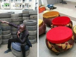 How to turn old tyres into unique furniture? Ask this Nigerian man!