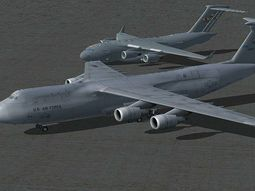Pictures of US President's MotorCade inside C5-Galaxy Aircraft