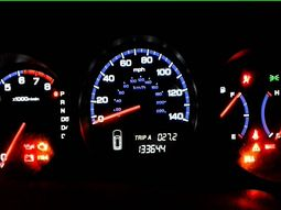 The three critical warning lights on the dashboard that require immediate service