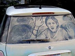 [Photo gallery] Magnificent artworks on dirty cars!