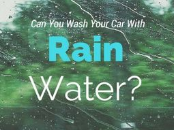 Is it OK to let the rain do the car wash?