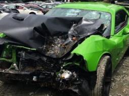 American rapper Offset's N31m Dodge Challenger SRT deformed after deadly crash