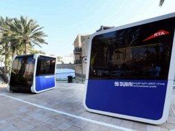 Dubai's futuristic transportation pods that look like in a Sci-Fi movie