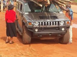 Unbelievable! Hummer Jeep sighted being used to convey bamboo stick from the timber market