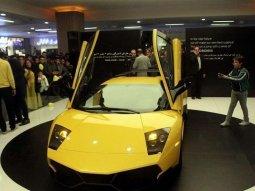 Perfect full-scaled replica of Lamborghini Murcielago manufactured by Iranian engineers