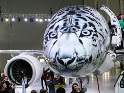 Kazakhstan's new aircraft painted in snow leopard livery