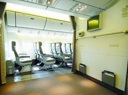 See Saudi Arabian prayer room in their planes!