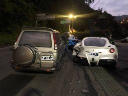 Asleep delivery man crashes 4 Ferraris worth ₦625 million