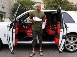 Rolls-Royce Sneakers presented to the American Basketballer, P.J.Tucker to fit his brand-new Rolls-Royce Cullinan