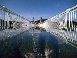 Most scary glass bridges - China glass bridge is just insane!