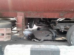 People escaped death as 4 cars, a fuel tanker and truck collide in Lagos
