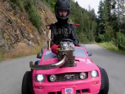 Crazy! 240cc Honda Dirt Bike engine powers Barbie toy car: So what?