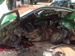 Toyota Avensis loses control, killing 4 college students & a little girl in Abeokuta