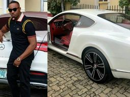 See how Pretty Mike, the Lagos club owner shows off his colour-matched luxurious cars