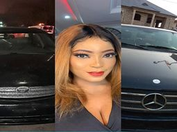 Actress Jinad Adunni gifted 2 cars by fans: 1 Toyota Camry & 1 Mercedes-Benz