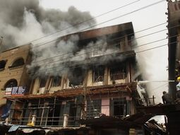 Fire outbreak in Lagos: Buildings, vehicles destroyed