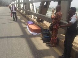 Corpse nearly got burnt in car fire on Onitsha Bridge