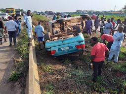 Ogun State Commissioner of Police rescues accident victims