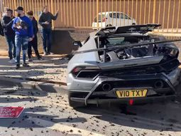 ₦99 million worth of Lamborghini Huracan wrecked at a supercar meet show off