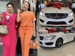 Nollywood diva Tonto Dikeh brags as bestie Bob Risky buys Mercedes Benz CLA 45 AMG