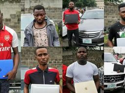 EFCC recovers flashy cars from arrested alleged Yahoo Boys