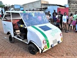 Kenyan student builds solar-powered car