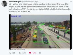 Nigerian student builds vehicle counting system for final year project