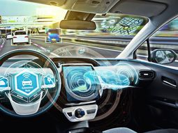 How do self-driving cars communicate for easy driving?