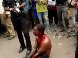 Suspected car thief almost lynched in Abuja! See photos