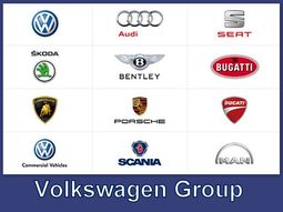 Comprehensive list of car brands under Volkswagen
