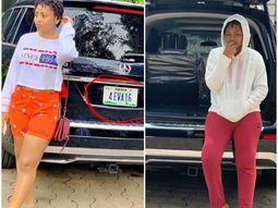 Regina Daniel dazzles us once again with customized plate number on her newly acquired Mercedes-Benz SUV