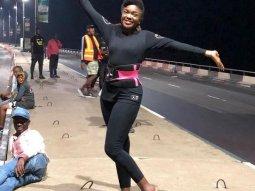 Omoni Oboli's car breaks down on Third Mainland bridge at midnight