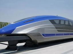 """Floating"" magnetic-levitation train unveiled in China with 600 km/hr max speed"