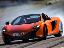 Watch video of McLaren 650S Spider top speed test, reaching 204 mph!